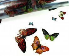 Tischfolie - Wachstuch - Lilith - Schmetterlinge - Transparent