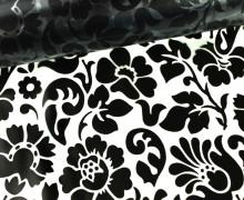Tischfolie - Wachstuch - Barock Premium - Blumen - Transparent