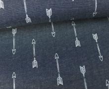 Jeans - Chambray - Pfeile - Arrows - Grau