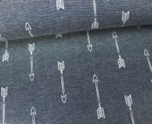 Jeans - Chambray - Pfeile - Arrows - Hellgrau