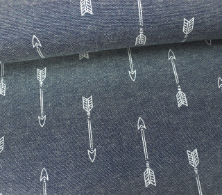 Jeans - Chambray - Pfeile - Arrows - Hellgrau