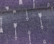 Jeans - Chambray - Pfeile - Arrows - Schiefergrau