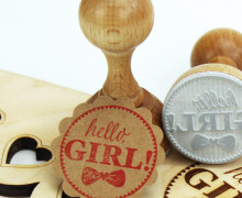 Stempel - hello Girl - Holzstempel