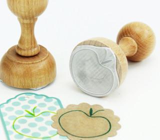 Stempel - Apfel - Obst - Holzstempel