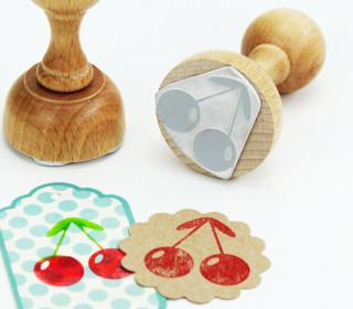 Stempel - Kirsche - Obst - Holzstempel