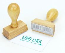Stempel - Good Luck - Holzstempel