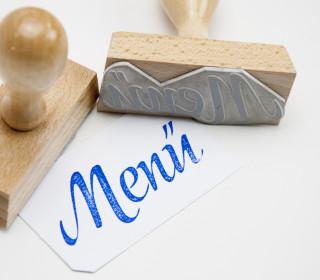 Stempel - Menü - Holzstempel