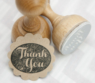 Stempel - Thank You - Holzstempel