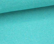 Glattes Bündchen - Uni - Schlauchware - Aqua Dunkel Meliert