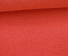 Glattes Bündchen - Uni - Schlauchware - Rot Meliert