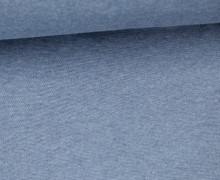 Glattes Bündchen - Uni - Schlauchware - Taubenblau Dunkel Meliert
