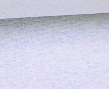 Glattes Bündchen - Uni - Schlauchware - Hellblau Meliert