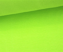 Glattes Bündchen - Uni - Schlauchware - Lime