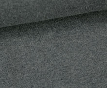 Glattes Bündchen - Uni - Schlauchware - Dunkelgrau Meliert