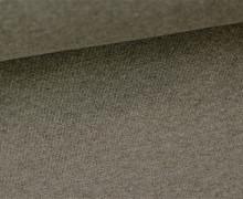 Glattes Bündchen - Uni - Schlauchware - Braun Meliert