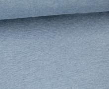 Glattes Bündchen - Uni - Schlauchware - Graublau Meliert