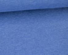 Glattes Bündchen - Uni - Schlauchware - Blau Meliert