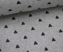 Glattes Bündchen - Dreiecke - Grau