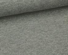 Jersey - Uni - ca. 150cm - Grau Meliert