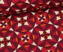 Feste Baumwolle - Kokka - Kaleidoskop - Rot