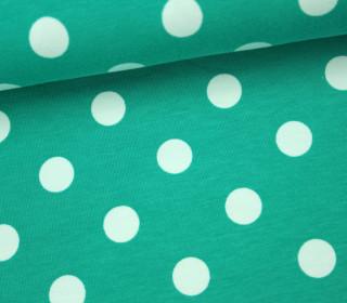 Jersey - Große Punkte - 1,5cm - Grün