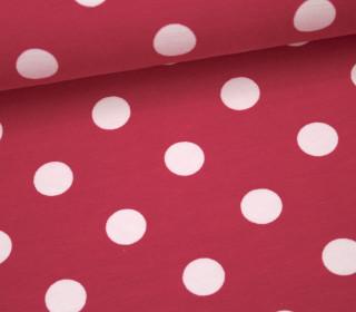 Jersey - Große Punkte - 1,5cm - Pink
