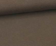 Jersey - Uni - ca. 150cm - Schokobraun