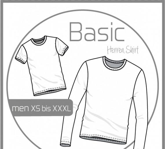 419bea846e7edc Schnittmuster - Basic - Herren Shirt - XS-XXXL - Ki-Ba-Doo