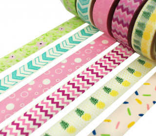 6 Rollen Masking Tapes - Set -  Bunt