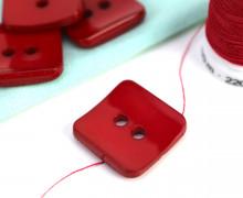 1 Knopf - 18mm - Eckig - Rot