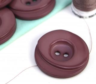 1 Knopf - 33mm - Rund - Stufen - Asterviolett