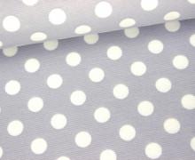 Elastischer Fashionstoff - Punkte - 1cm - Grau
