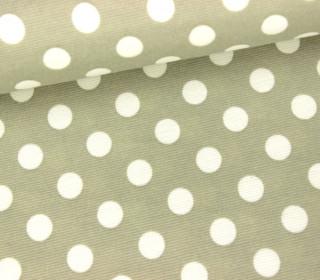 Elastischer Fashionstoff - Punkte - 1cm - Graubeig