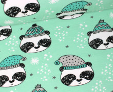Sweat - Panda - Winterpanda - Bär - Mint - GOTS - Andrea Lauren