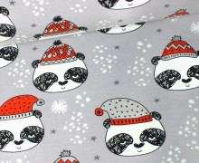Sweat - GOTS - Panda - Winter - Bär - Grau - Andrea Lauren