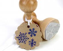 Stempel - Eiskristalle - Weihnachten - Holzstempel