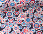 Softshell - Fleece - Mandala - Blumen - Pflaume