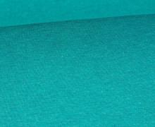 Glattes Bündchen - Uni - Schlauchware - Cyanblau Meliert