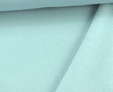 Kuschelsweat - Uni - 160cm - Eisblau
