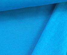 Kuschelsweat - Uni - 160cm - Cyanblau