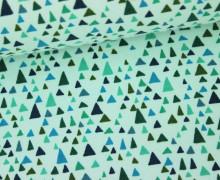 Baumwolljersey - Dreiecke - In The Bloom - Robert Kaufman - Hellblau