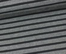Jersey - Schlichte Streifen - 15mm - Dunkelgrau/Schwarz