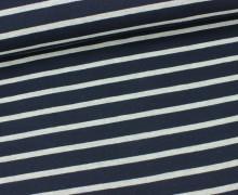 Jersey - Schlichte Streifen - 15mm - Dunkelblau/Grau