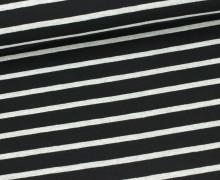 Jersey - Schlichte Streifen - 15mm - Schwarz/Grau