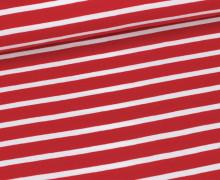 Jersey - Schlichte Streifen - 15mm - Rot/Weiß
