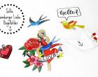 1 Bügelbild - Love Tattoo - Hamburger Liebe - Aufbügler