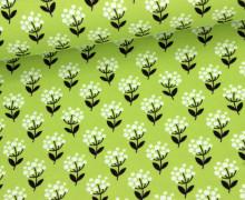 Jersey - Blumen - Tante Ema - Grün