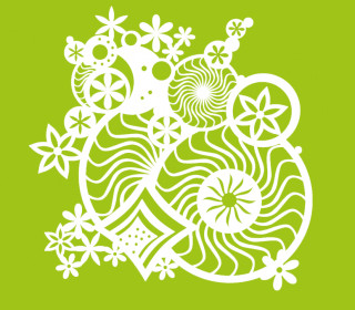 Schablone - Marabu - 30cm x 30cm - für Textilfarben - Fantasy Ornament