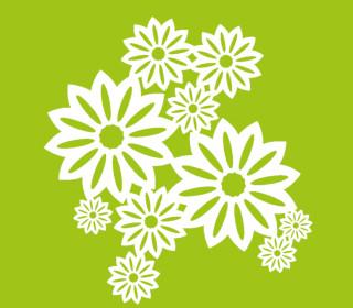 Schablone - Marabu - 30cm x 30cm - für Textilfarben - Wild Blossoms