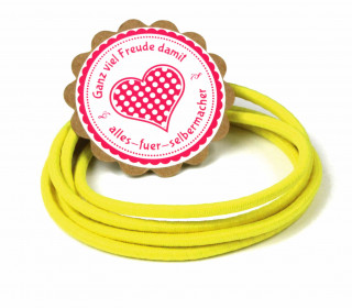 1m Gummikordel - Gummilitze - 3mm - Gelb